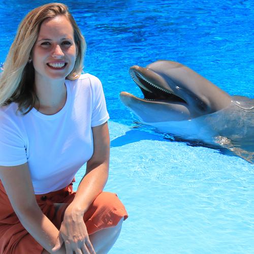 Foto con delfines
