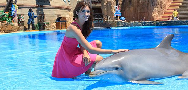 Foto con<br /> delfines