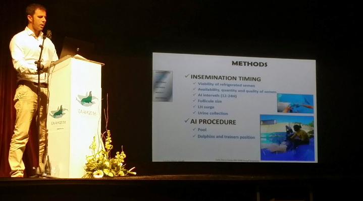 Mundomar clausura la EAAM con una ponencia propia sobre inseminación artificial en delfines