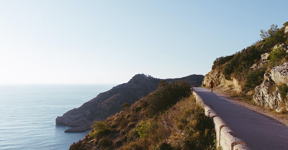 Camino al Faro del Albir.